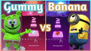 Download lagu Tiles Hop - The Gummy Bear VS Minions Banana. V Gamer