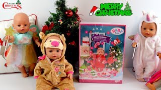 Baby Born Christmas Advent Calendar - 24 Surprise Presents for Baby Dolls, Christmas Songs for Kids
