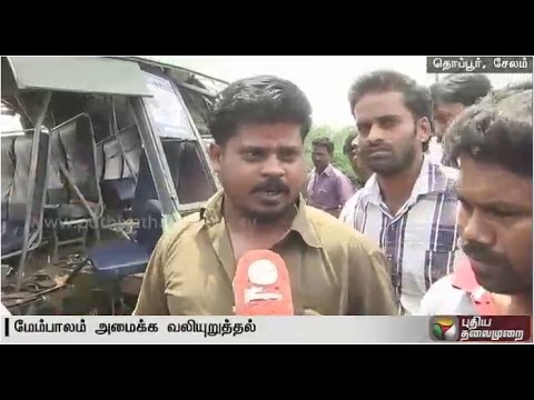 Salem road accident:Report on how the accident occurred & formation of road alleged to be the reason