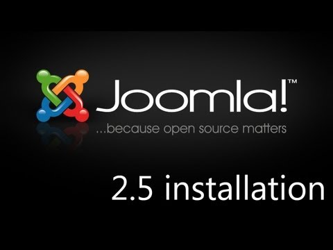 Joomla 2.5 Installieren Tutorial Deutsch/German [HD]
