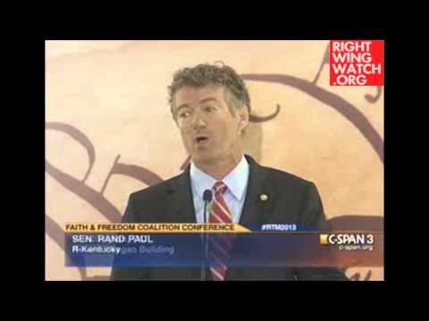 Rand Paul: Liberals, Islamists Waging War on Christanity