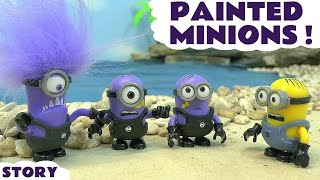 Despicable Me 3 Minions in a funny story Painted Minions Banana and a Paw Patrol Rescue ToyTrains4u