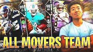 ALL NFL MOVERS TEAM BUILDER! Madden 18 Ultimate Team