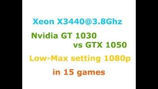 gt 1030 vs gtx 1050