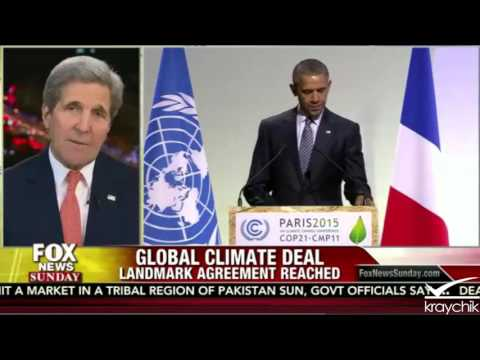 """John Kerry interview with Fox News Sunday; Hypes """"Climate Deal"""" From Paris; 12-13-2015"""
