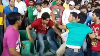 fight in cricket match |  IPL 2016 | during match in audience | viral in india