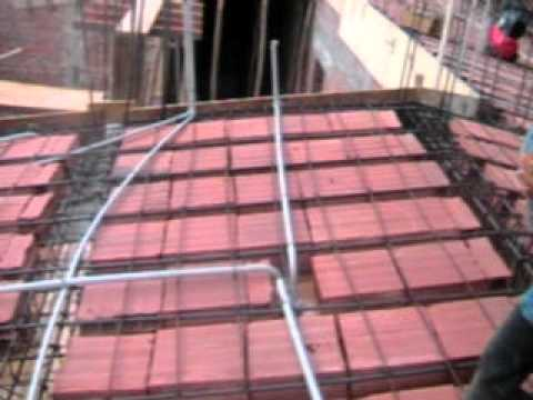 Losa de concreto a dos aguas