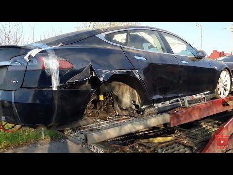 Тесла после ДТП. Полный треш. Tesla Model S.