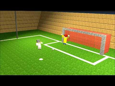Animacja:FC Barcelona VS Real Madryt Minecraft |  rzuty karne machinima