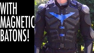 Nightwing's Armor Vest Tutorial! (With Magnetic Batons!)