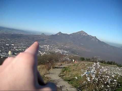 Вид с горы Машук в Пятигорске