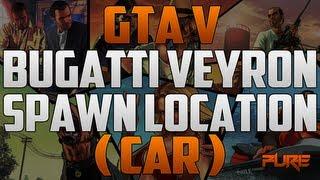 "Grand Theft Auto 5: ""GTA V Tips & Tricks"" Bugatti Veyron Spawn location"