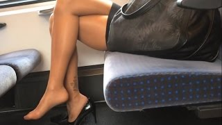 Nylon pantyhose compilation 184