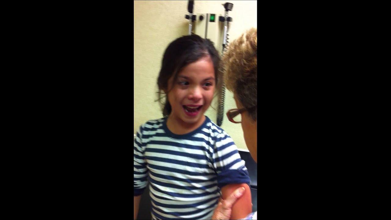Girl Making Funny Face Meme : Michaela s flu shot youtube