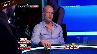 Top 5 EPIC Flops | Poker Legends