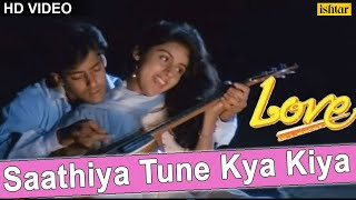 Download Saathiya Tune Kya Kiya Full Video Song | Love | Salman Khan, Revathi Menon | S P Balasubramaniam 3Gp Mp4