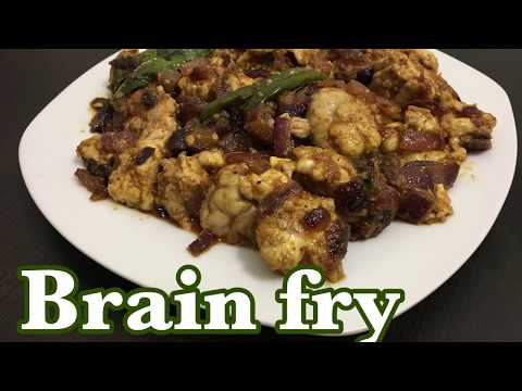 BRAIN FRY Recipe | Bheja fry | how to prepare goat brain fry | ஆட்டு முளை வறுவல்