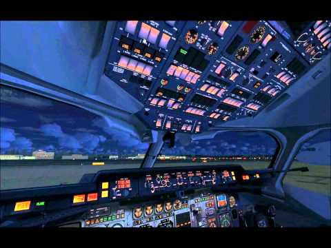QualityWings Simulations: BAe146 / Avro RJ - Night Lighting Preview