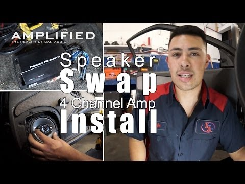 4 Channel Amp Install and Speaker Swap - Amplified #144