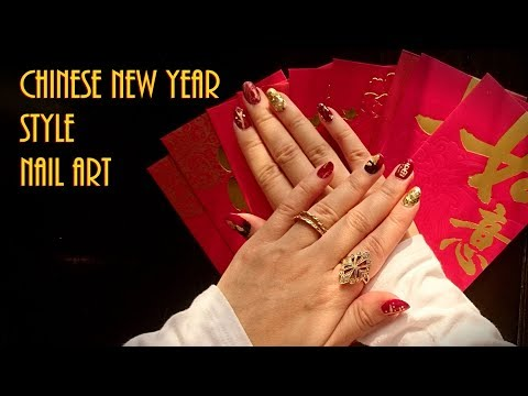 5 Easy Chinese New Year Nail Art Styles - YouTube