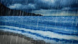 Rain & Ocean Sounds   Sleep, Study, Focus   10 Hours White Noise