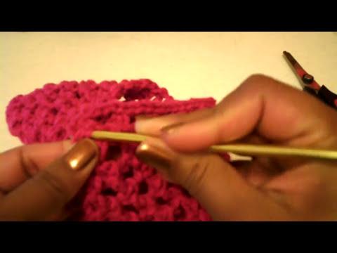 Cintillo sencillo (punto de red) -Tutorial de tejido crochet