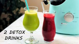 2 Detox Juice Recipes for Weight Loss and Heart Healthy using Affordable Comfee Juicer