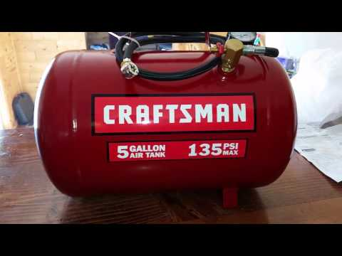 Unboxing: Craftsmen 5 gallon portable air tank