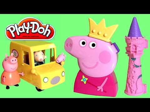 Princess Peppa Pig Jewelry Storage Case Wand & Crown Nickelodeon Play Doh Princesa Juguete Joyero