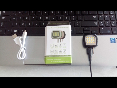 Portable 16 SMD LED Selfie Smartphone Flash   ebay.in   unboxing.review & window phone test