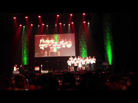 The Gateway School Choir singing at the Hammerstein Ballroom