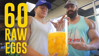 Eating 60 Raw Eggs! Ft. Bradley Martyn