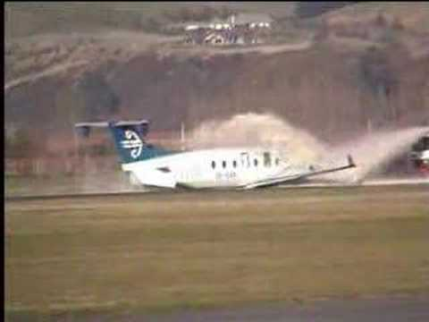 Beech 1900 aircraft wheels up landing