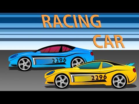 Racing Car | Cartoon Cars | Kids Game Play