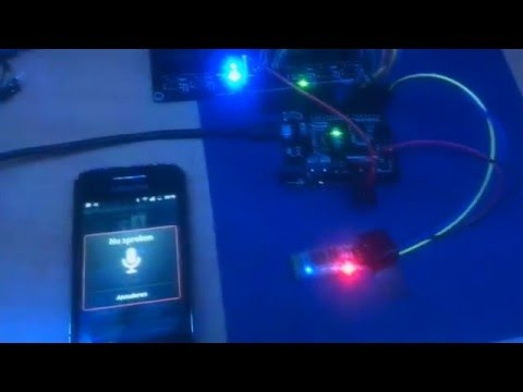 Controlling LEDs ON/OFF with voice commands through