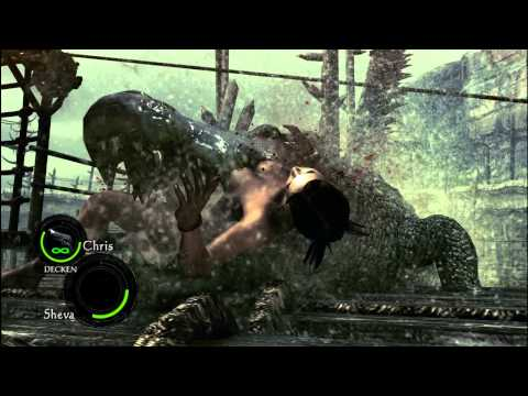 Alligator eats Sheva Alomar ( Nude MOD Version) Resident Evil 5