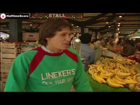 Young Gary Lineker Sells Fruit & Vegetables At Leicester Market