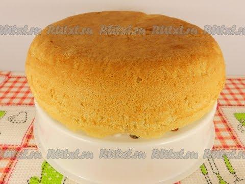 Как сделать пышный бисквит для торта в мультиварке