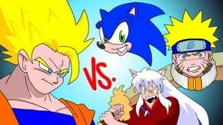 GOKU vs EVERYBODY UCF7.5 SONIC! NARUTO! INUYASHA!