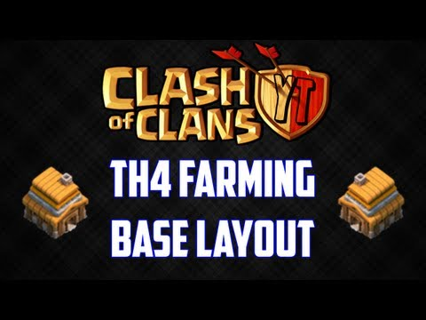 Clash of Clans: Town Hall 4 Farming Base Layout