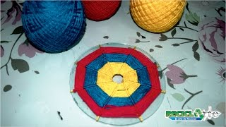 DIY ♻ MANDALA TEJIDA EN CD RECICLADO