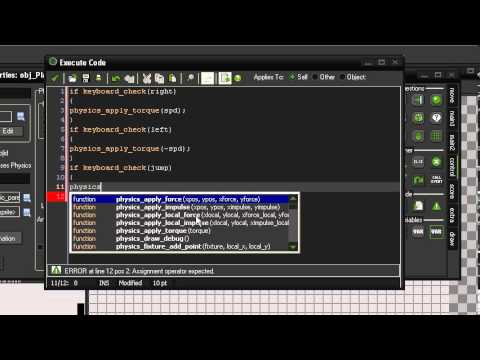 How To Use Physics To Create Platformer Movement In Game Maker: Studio