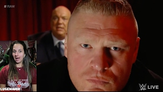 WWE Raw 2/20/17 Brock Lesnar up close and PERSONAL