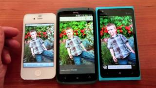 HTC One X, Nokia Lumia 900, Apple iPhone 4s screen comparison