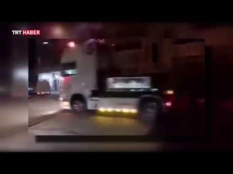 ABD'nin olduğu iddia edilen askeri konvoy, terör örgütü PYD/PKK'nın kontrolündeki Kamışlı'ya geçti.