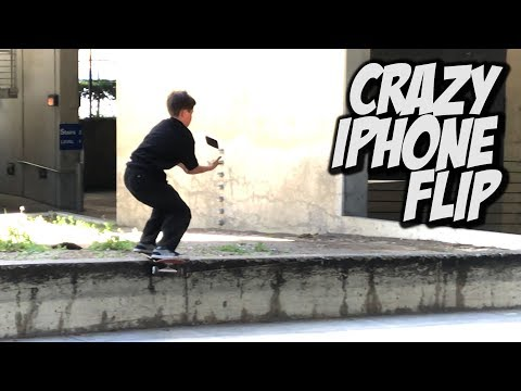INSANE IPHONE BOARDSLIDE HAND FLIP WITH LOGAN AND HERN !!! - NKA VIDS -