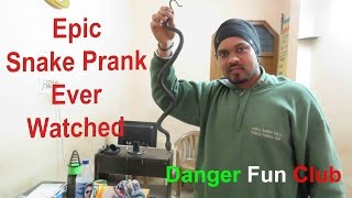 Best Snake Prank Try not to laugh - Prank in India