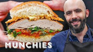 Binging With Babish Makes The Parks And Rec Turkey Burger - How To