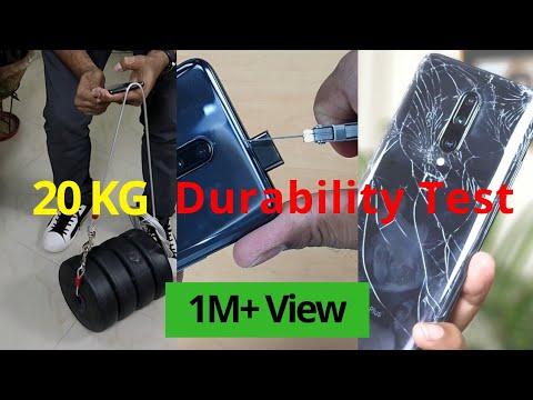 OnePlus 7 Pro Drop Test   POP UP Camera DURABILITY Test 20 KG Weight   WaterProof Test   Hindi