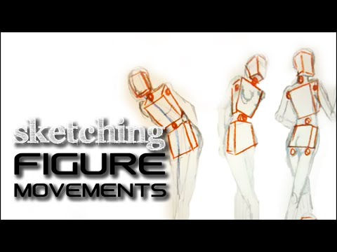 Geometric sketch- structuring the figure and its movements:Fashion Design Drawing Lesson # 6